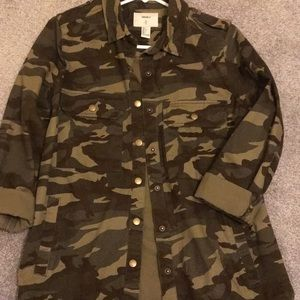 Forever 21 camo utility button up